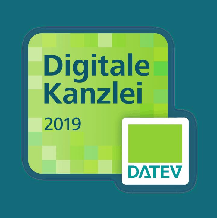 Auszeichnung als Digitale DATEV-Kanzlei 2019!